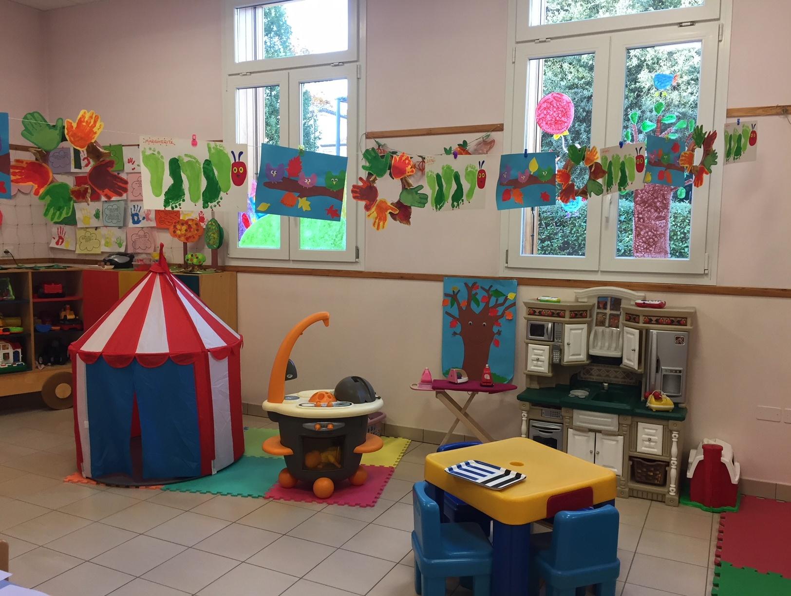 La sala giochi della Sezione Primavera della Scuola dell'Infanzia Prospero Alpino di Marostica