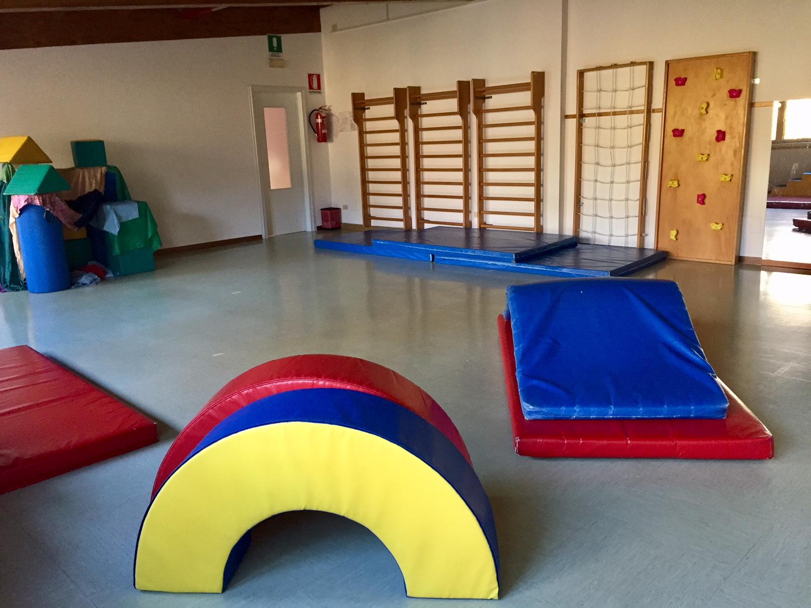 La palestra della Scuola dell'Infanzia Prospero Alpino di Marostica