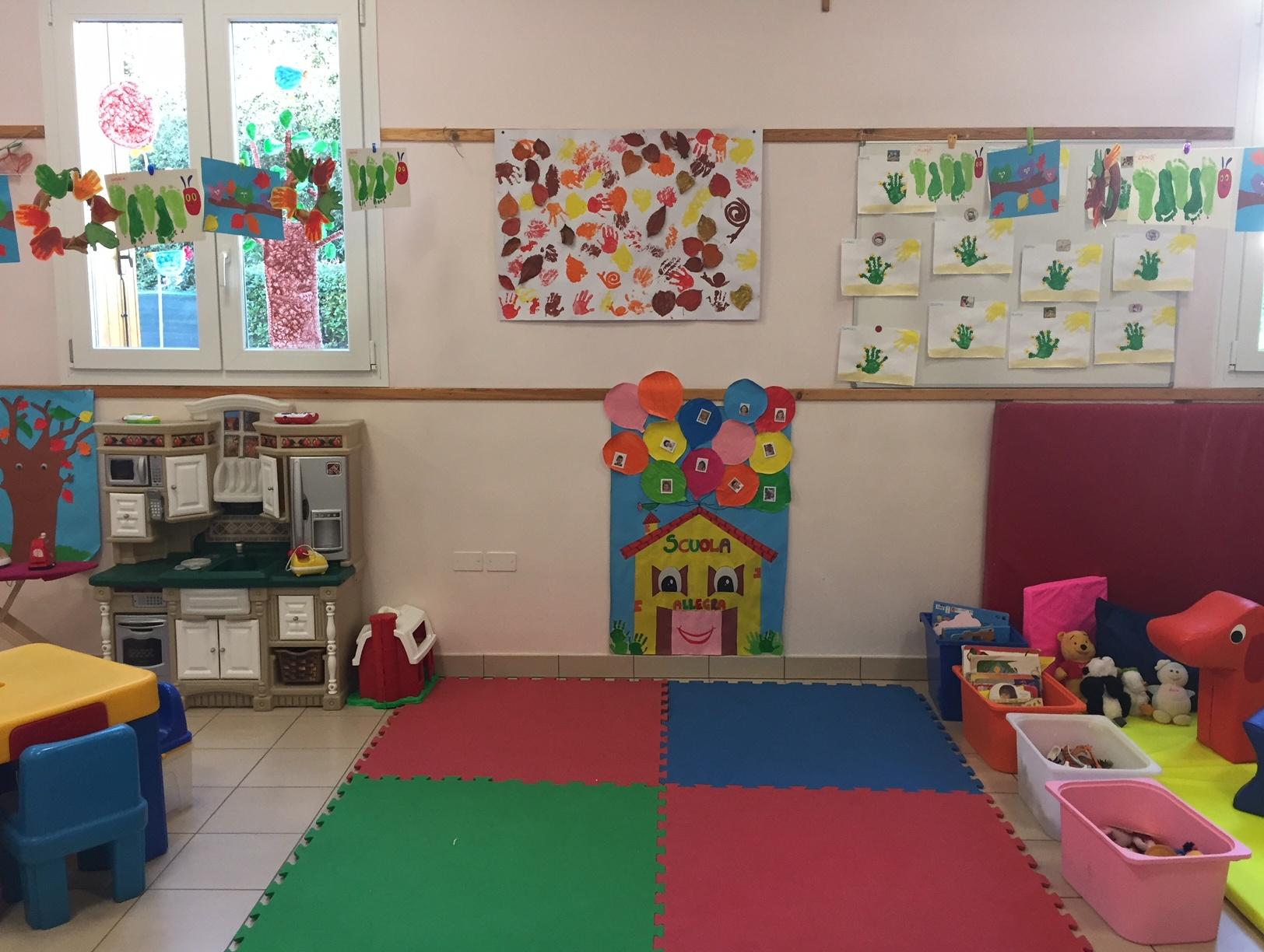 Salone dei giochi della Sezione Primavera della Scuola dell'Infanzia Prospero Alpino di Marostica