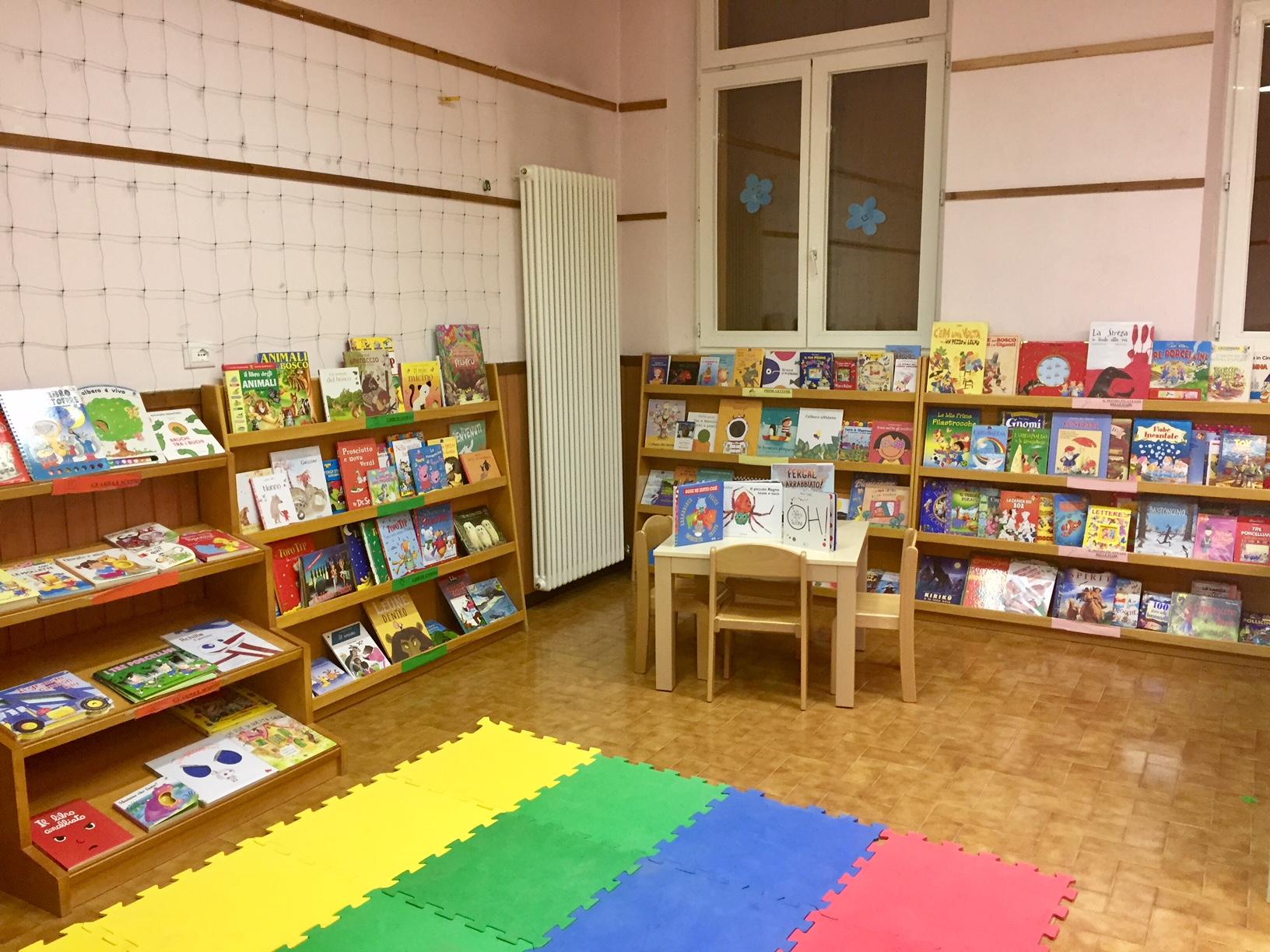 La biblioteca della Scuola dell'Infanzia Prospero Alpino di Marostica