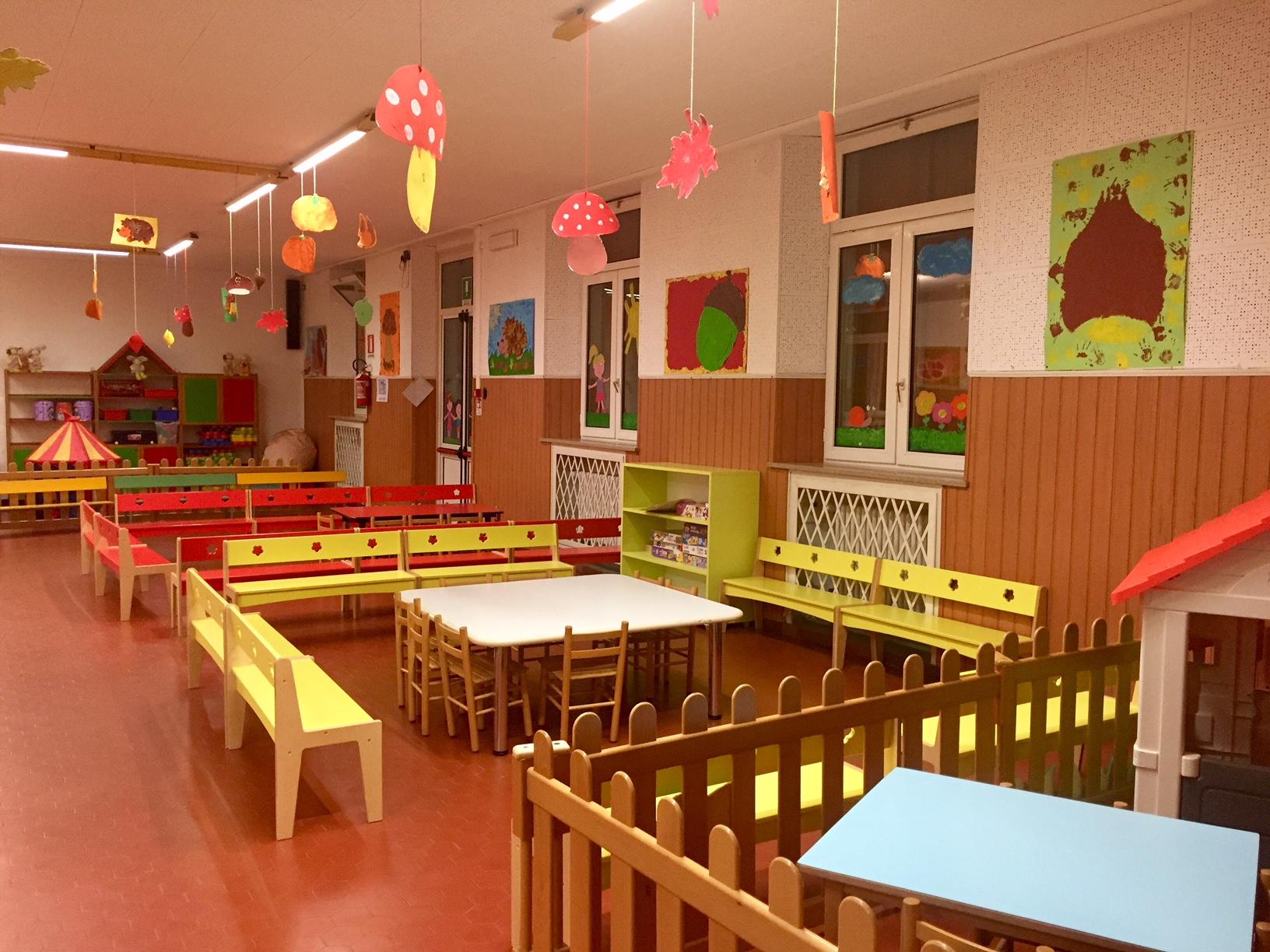 Il salone giochi della Scuola dell'Infanzia Prospero Alpino di Marostica