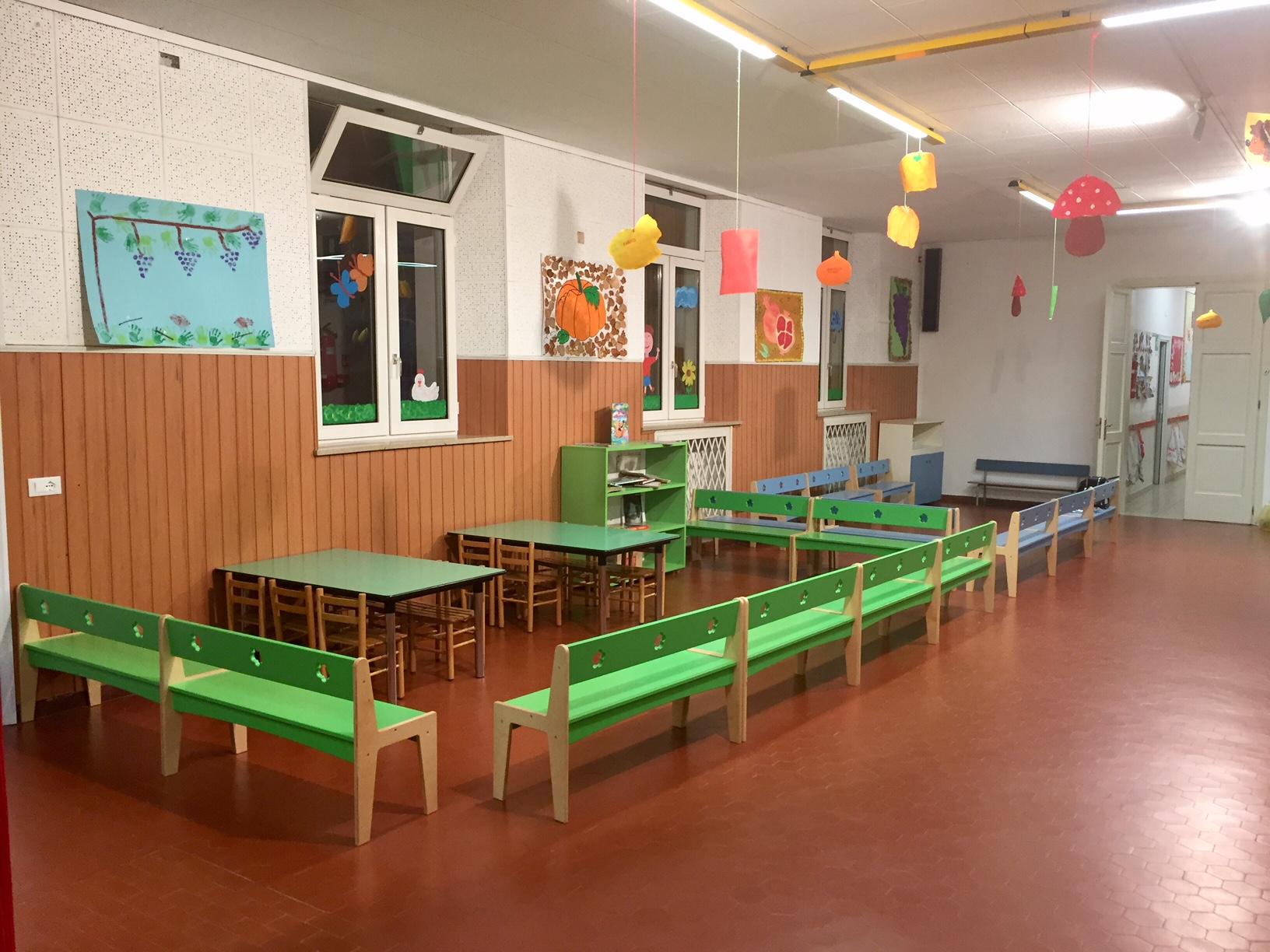 Il salone dei giochi della Scuola dell'Infanzia Prospero Alpino di Marostica