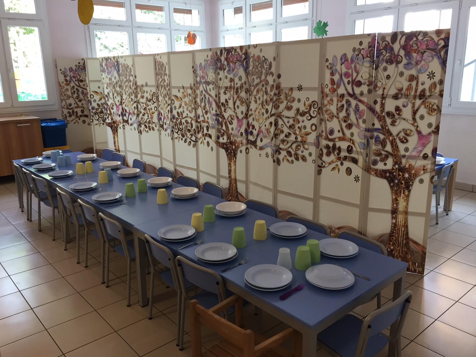 La mensa della Scuola dell'Infanzia Prospero Alpino di Marostica