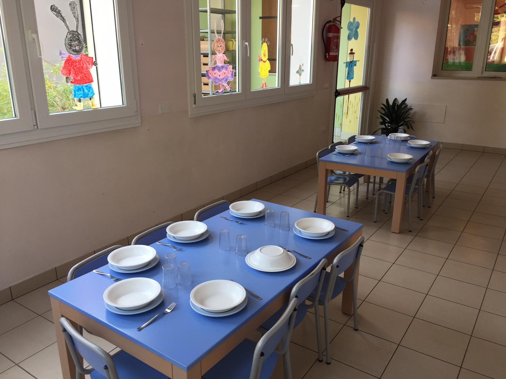 La mensa della Sezione Primavera Scuola dell'Infanzia Prospero Alpino di Marostica